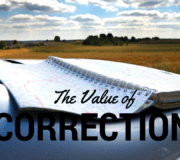 The Value of Correction (1)